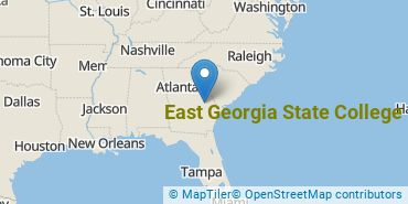 Location of East Georgia State College
