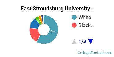 East Stroudsburg University Undergraduate Racial-Ethnic Diversity Pie Chart