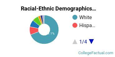 East Stroudsburg University of Pennsylvania Graduate Students Racial-Ethnic Diversity Pie Chart