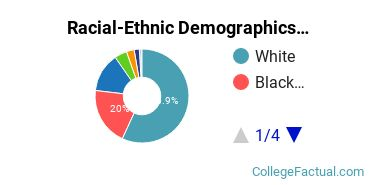 East Stroudsburg University of Pennsylvania Undergraduate Racial-Ethnic Diversity Pie Chart