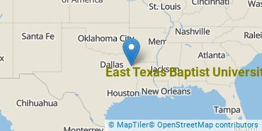Location of East Texas Baptist University