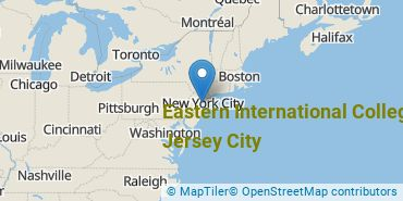 Location of Eastern International College - Jersey City
