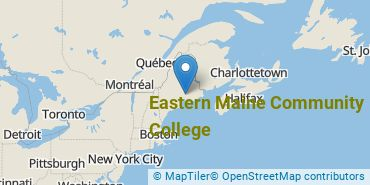 Location of Eastern Maine Community College