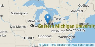 Location of Eastern Michigan University