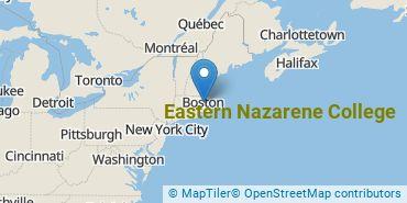 Location of Eastern Nazarene College
