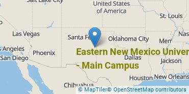 Location of Eastern New Mexico University - Main Campus