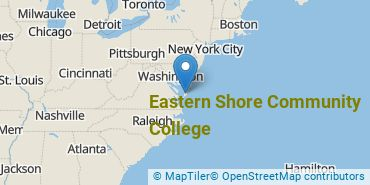 Location of Eastern Shore Community College