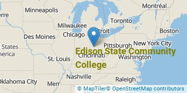 Location of Edison State Community College