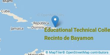 Location of Educational Technical College-Recinto de Bayamon