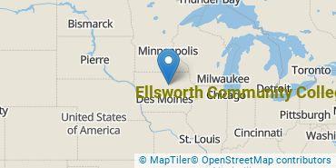 Location of Ellsworth Community College