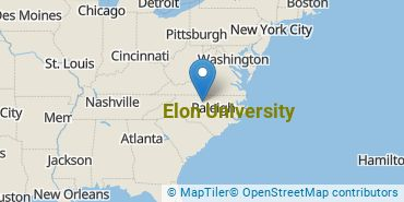 Location of Elon University