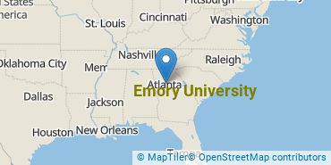 Location of Emory University