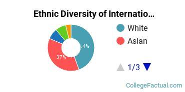 Ethnic Diversity of International Relations & National Security Majors at Emory University