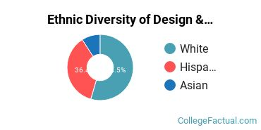 Ethnic Diversity of Design & Applied Arts Majors at Fairleigh Dickinson University - Florham Campus