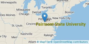 Location of Fairmont State University