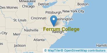 Location of Ferrum College