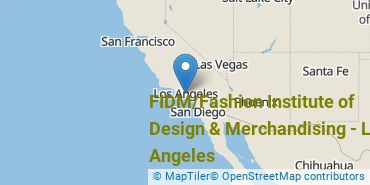 Location of FIDM/Fashion Institute of Design & Merchandising - Los Angeles