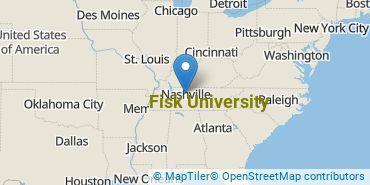 Location of Fisk University