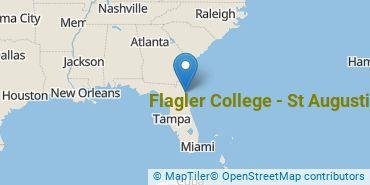 Location of Flagler College - St Augustine