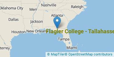 Location of Flagler College - Tallahassee