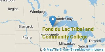 Location of Fond du Lac Tribal and Community College