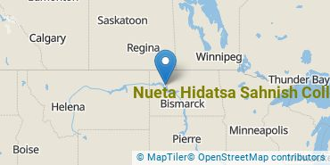 Location of Nueta Hidatsa Sahnish College