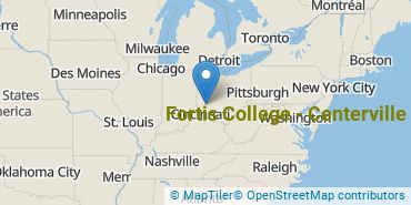 Location of Fortis College - Centerville