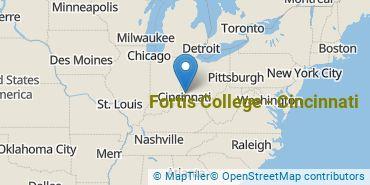 Location of Fortis College-Cincinnati