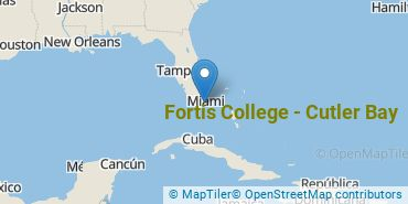 Location of Fortis College-Cutler Bay
