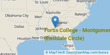 Location of Fortis College - Montgomery (Eastdale Circle)