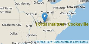 Location of Fortis Institute - Cookeville