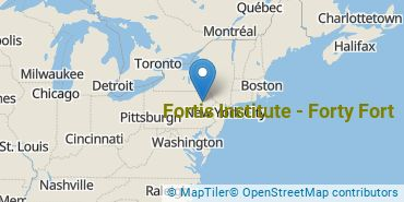 Location of Fortis Institute - Forty Fort
