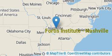 Location of Fortis Institute - Nashville