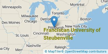 Location of Franciscan University of Steubenville