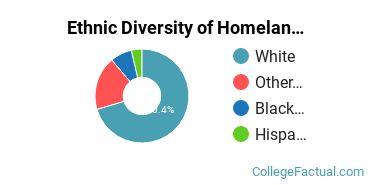 Ethnic Diversity of Homeland Security, Law Enforcement & Firefighting Majors at Franklin Pierce University