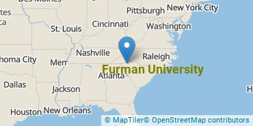 Location of Furman University