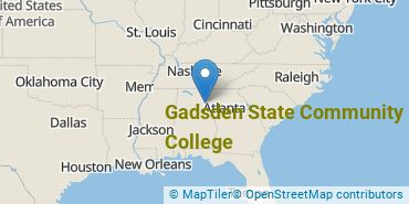 Location of Gadsden State Community College