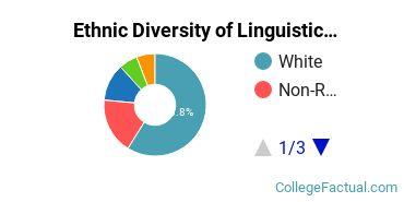 Ethnic Diversity of Linguistics & Comparative Literature Majors at Georgetown University