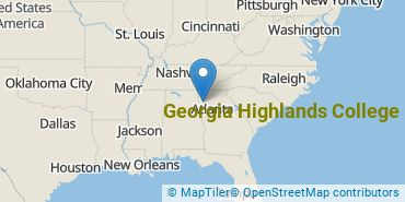 Location of Georgia Highlands College