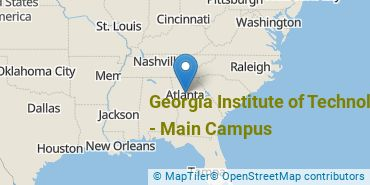 Location of Georgia Institute of Technology - Main Campus