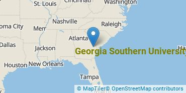 Location of Georgia Southern University