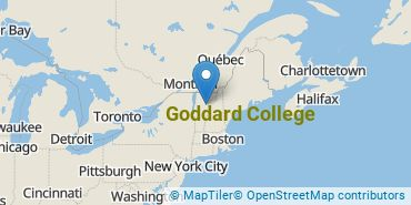 Location of Goddard College