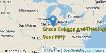 Location of Grace College and Theological Seminary