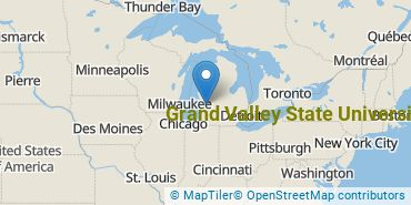 Location of Grand Valley State University