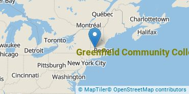 Location of Greenfield Community College