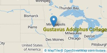 Location of Gustavus Adolphus College