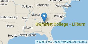 Location of Gwinnett College - Lilburn