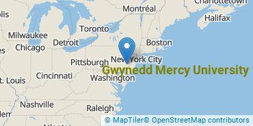 Location of Gwynedd Mercy University