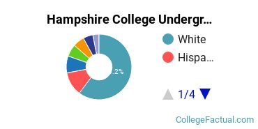 Hampshire Undergraduate Racial-Ethnic Diversity Pie Chart