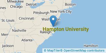 Location of Hampton University